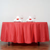 "108"" Red Polyester Round Tablecloth"