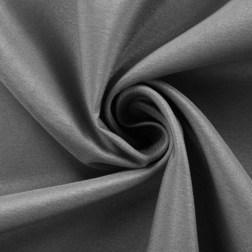 "120"" Charcoal Gray Polyester Round Tablecloth"