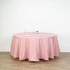 "120"" Dusty Rose Polyester Round Tablecloth"
