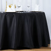 "120"" Black 220 GSM Seamless Premium Polyester Round Tablecloth"