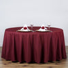 "120"" Polyester Round Tablecloth - Burgundy"