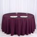 "120"" Eggplant Polyester Round Tablecloth"