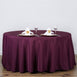 "120"" Polyester Round Tablecloth - Eggplant"
