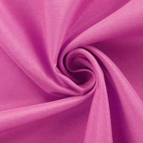 "90x156"" Fushia Polyester Rectangular Tablecloth"