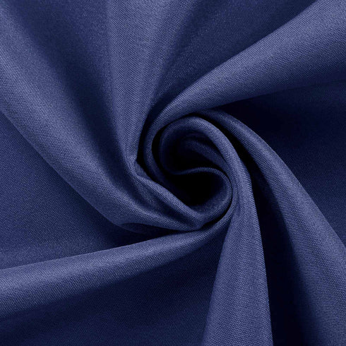 "90x156"" Navy Blue Polyester Rectangular Tablecloth"