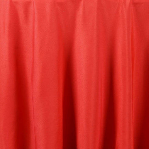 "120"" RED Wholesale Polyester Round Tablecloth For Wedding Banquet Restaurant"