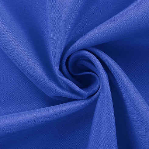 "90"" Royal Blue Polyester Round Tablecloth"