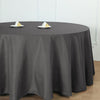 "132"" Charcoal Gray Wholesale Polyester Round Tablecloth"