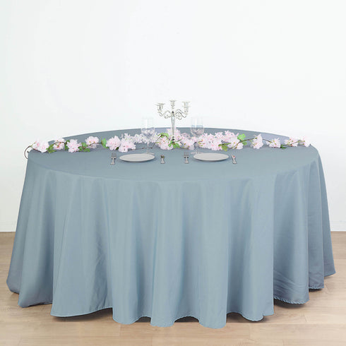 Polyester Tablecloth, Round Tablecloth, Table Decoration