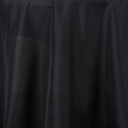 "132"" BLACK Wholesale Polyester Round Tablecloth For Wedding Banquet Restaurant"