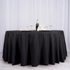"132"" Black Polyester Round Tablecloth"