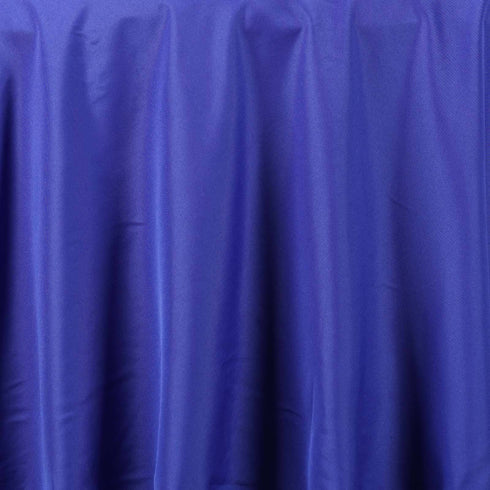 "132"" ROYAL BLUE Wholesale Polyester Round Tablecloth For Wedding Banquet Restaurant"