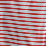 "60x102"" WHITE / RED Striped Wholesale SATIN Banquet Linen Wedding Party Restaurant Tablecloth"