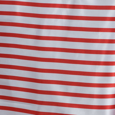 "60x126"" WHITE / RED Striped Wholesale SATIN Banquet Linen Wedding Party Restaurant Tablecloth"