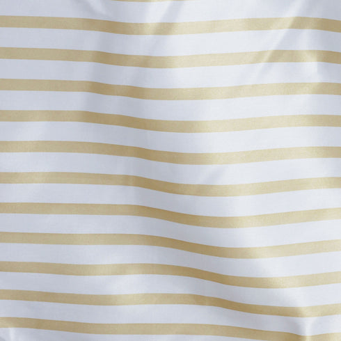 "90x132"" Stripe Wholesale SATIN Banquet Linen Wedding Party Restaurant Tablecloth - White/Champagne"
