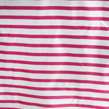 "90x132"" Stripe Wholesale SATIN Banquet Linen Wedding Party Restaurant Tablecloth - White/Fushia"
