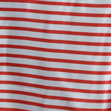 "90x132"" Stripe Wholesale SATIN Banquet Linen Wedding Party Restaurant Tablecloth - White/Red"
