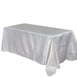 "90x156"" Stripe Satin Tablecloth - White/Champagne"