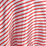 "90"" Stripe Wholesale SATIN Banquet Linen Wedding Party Restaurant Tablecloth - White/Red"