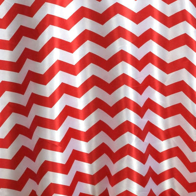 Chevron Satin Round Tablecloth| Red | Table Linens | 120""
