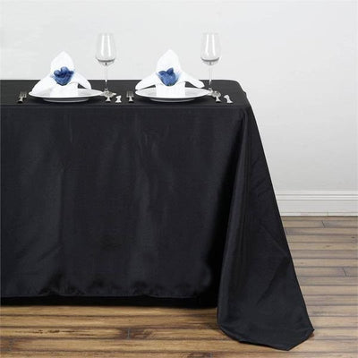 "50x120"" Polyester Tablecloth - Black"