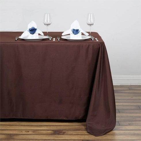 "50x120"" Polyester Tablecloth - Chocolate"