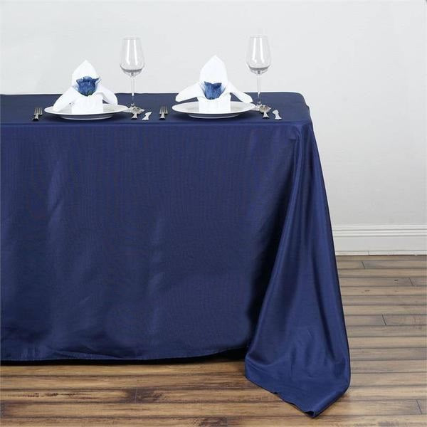 "50x120"" NAVY BLUE Wholesale Polyester Banquet Linen Wedding Party Restaurant Tablecloth"