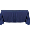 50 inch x120 inch Polyester Tablecloth - Navy Blue