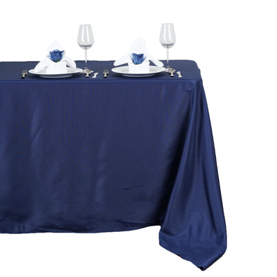 "50x120"" Polyester Tablecloth - Navy Blue"