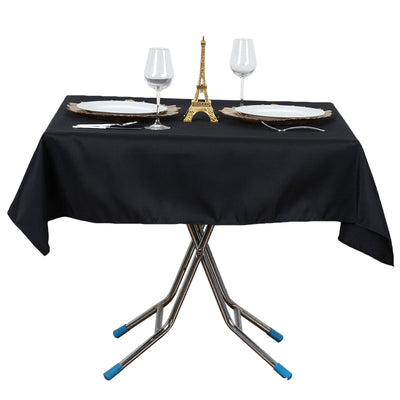 "54"" x 54"" Wrinkle and Stain Resistant Premium Polyester Tablecloth"
