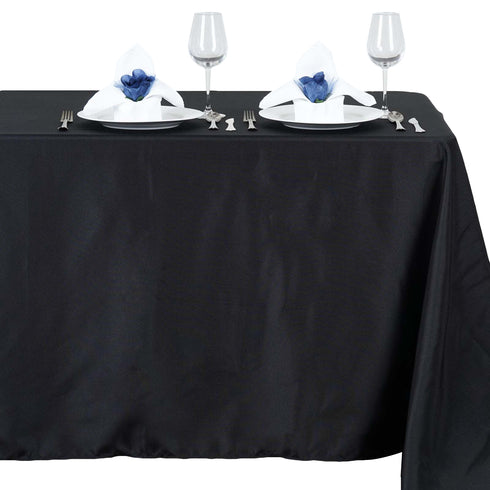 "54x96"" Polyester Tablecloth - Black"