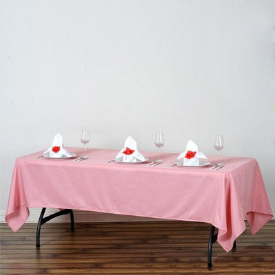 "60x102"" Polyester Tablecloth - ROSE QUARTZ"
