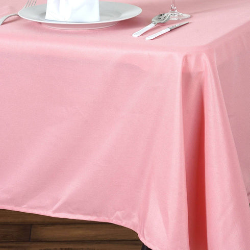 "60x102"" ROSE QUART Wholesale Polyester Banquet Linen Wedding Party Restaurant Tablecloth"