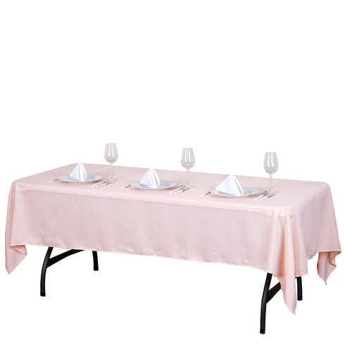 "60x102"" Polyester Tablecloth - Blush"