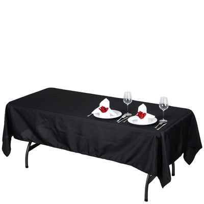 "60x102"" Polyester Tablecloth - Black"