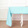 "60x102"" Blue Polyester Rectangular Tablecloth"