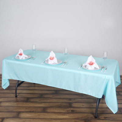 "60x102"" Polyester Tablecloth - Blue"