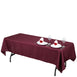 "60x102"" Polyester Tablecloth - Burgundy"