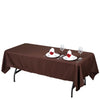 "60x102"" Polyester Tablecloth - Chocolate"