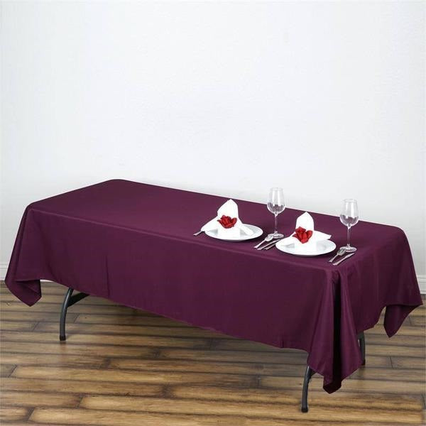 "60x102"" EGGPLANT Wholesale Polyester Banquet Linen Wedding Party Restaurant Tablecloth"