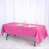 "60""x102"" Fushia Polyester Rectangular Tablecloth"