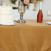 "60x102"" Gold Polyester Rectangular Tablecloth"