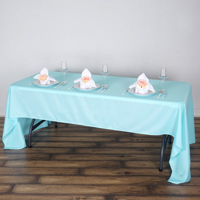 "60x126"" Polyester Tablecloth - Blue"