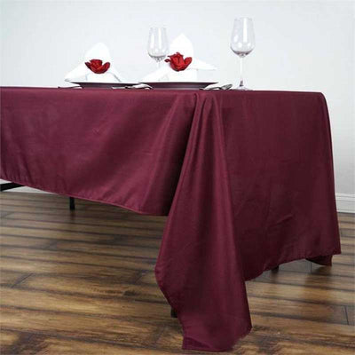 "60x126"" Polyester Tablecloth - Burgundy"