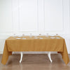 "60""x126"" Gold Polyester Rectangular Tablecloth"