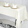 "60x126"" Ivory 220 GSM Seamless Premium Polyester Rectangular Tablecloth"