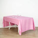 "60x126"" Pink Polyester Rectangular Tablecloth"
