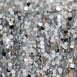 "120"" Big Payette Silver Sequin Round Tablecloth - Premium Collection"