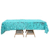 60x102 inches Big Payette Turquoise Sequin Rectangle Tablecloth