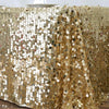"90X132"" Premium Big Payette Sequin Rectangle Tablecloth - Champagne"